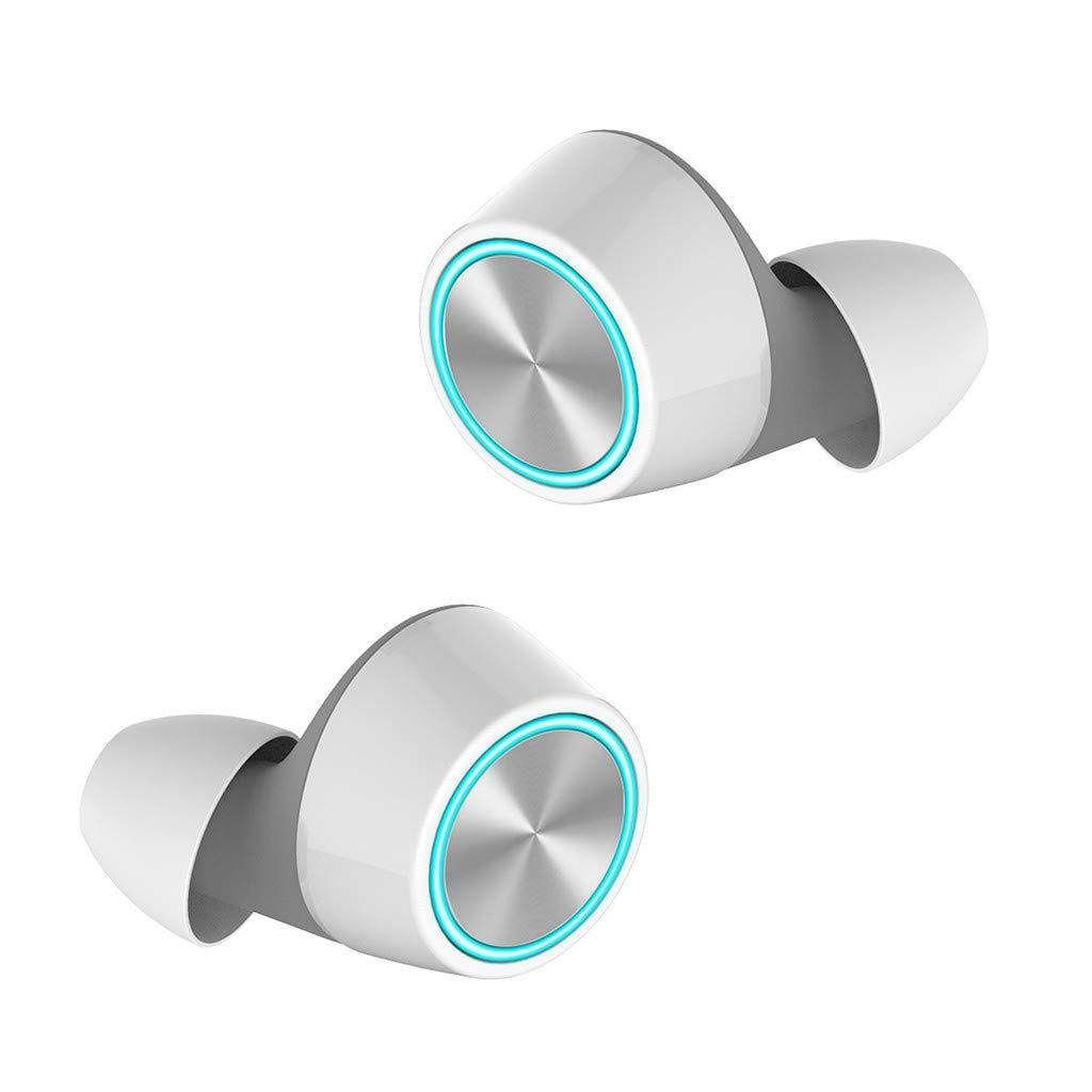 ❤SU&YU❤TWS 5.0 Bluetooth Wireless Earphones True Wireless Earbuds in-Ear Stereo W/Mic (WH)