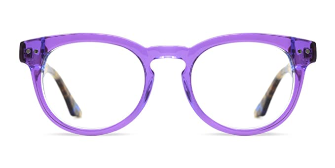 Amazon.com: tijn acetato Wayfarer transparente anteojos ...