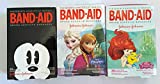 Girls' Band-Aids Disney Princesses, Frozen, Mickey Mouse Bundle of 3 Total 60 Bandages
