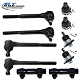 DLZ 10 Pcs Front Suspension Kit-2 Lower 2 Upper Ball Joint 2 Inner 2 Outer Tie Rod End 2 Adjusting Sleeve for 1964-1970 Chevrolet Chevelle 1965-1970 Chevrolet El Camino 1965-1967 Chevrolet Malibu