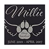 Paw With Angel Wings Cat Memorial Personalized Grave Stone For Cat | Granite Review