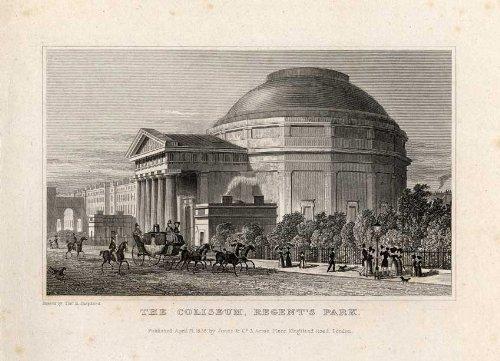 En la parte superior del ThePrintsCollector diseño de-Coliseo-Londres-England-pastor-1827