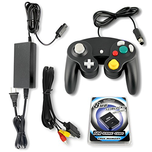 (Gamecube Parts Bundle With Controller, Power Adapter, Memory Card and AV Cable by Other Future )