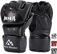 Brace Master MMA Gloves UFC Gloves Boxing Gloves for Men Women Leather More Paddding Fingerless Punching Bag G