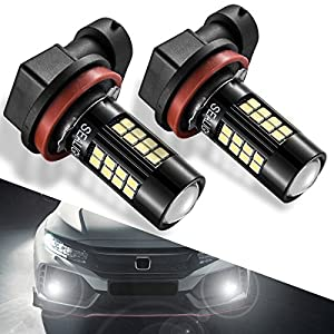 SEALIGHT H11 LED Fog Lights 38 SMD High Power H8 H16 Headlight Bulb for DRL or Fog Lights, Xenon White H11 LED 2 Yr Warranty Extremely Bright 6000K