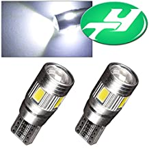 YINTATECH 2 X T10 5630 6SMD Canbus Error Free Wedge White LED Light bulbs W5W 168 921 194