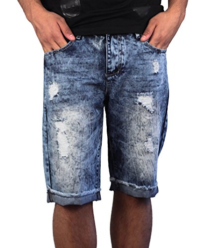 Denim Ribbed Men's Moto Shorts from X-Ray Jeans