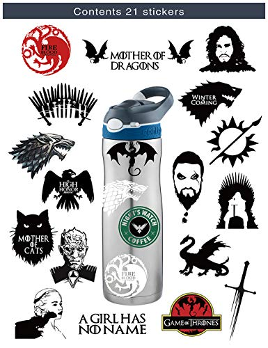 S-001 21pcs Game of Thrones Season 8 Stickers MacBook Pro Vinyl Stickers MacBook Air Stickers for Water Bottles Hydro Flask Stickers Vsco Stickers Laptop Stickers -