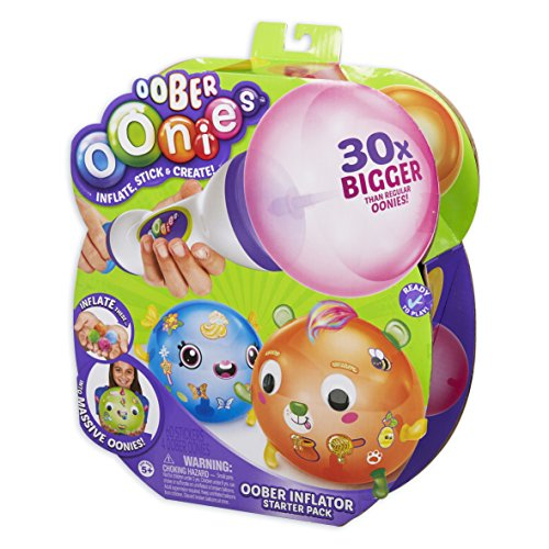Oonies Oober Oober Inflator Starter Pack with Stick 'n' Style Accessories. Easily inflate Oober to 30 Times The Size of Regular JungleDealsBlog.com