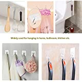 Adhesive Hooks Kitchen Wall Hooks- 24 Packs Heavy