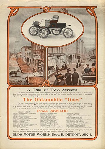 A Tale of Two Streets - Oldsmobile Curved Dash ad 1903