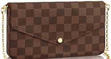 641da78e029f8 Womens Monogram Canvas Flap Purse Small Chain Cross Body Bag