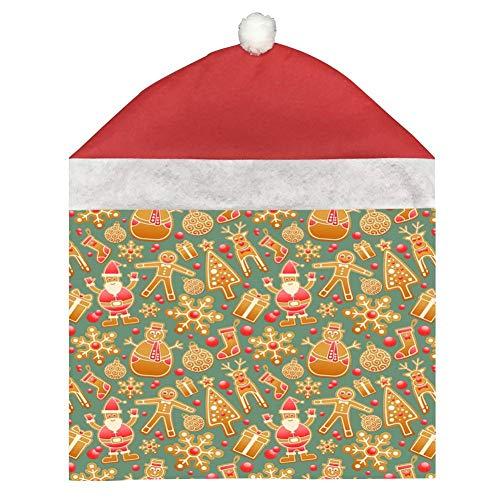dreambest Christmas Wallpaper Santa Claus Christmas Ornament Chair Set, 1 Piece, -