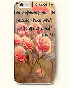 iPhone 6 Case,OOFIT iPhone 6 (4.7) Hard Case **NEW** Case with the Design of the lord is close to the brokenhearted he rescues those who's spirits are crushed psalm 34:18 - Case for Apple iPhone iPhone 6 (4.7) (2014) Verizon, AT&T Sprint, T-mobile
