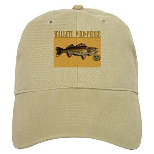 CafePress Walleye Whisperer Baseball Cap with Adjustable Closure, Unique Printed Baseball Hat Khaki