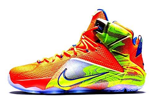 Nike Lebron 12 (6 Meridians) Hypr Crmsn/Vlt-Mtlc Cl Gry-Hyp (10) by NIKE