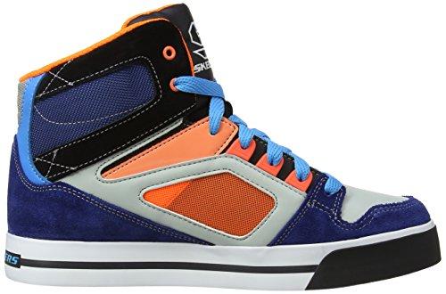 Skechers Yoke 91480L NVOR - Zapatillas de cuero para niño Azul (Blau (Nvor))