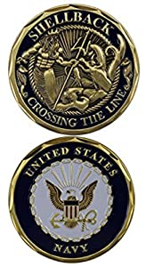 United States Navy Shellback Challenge Coin (Eagle Crest 3097)