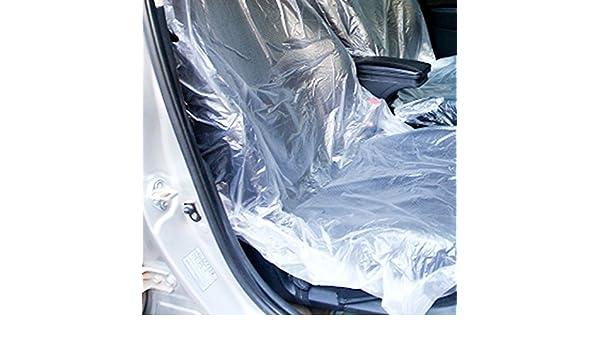 Auntwhale 10pcs Car Van Vehicle Disposable Plastic Transparent Seat Protective Covers Workshop Garage
