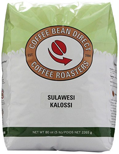 Sulawesi Kalossi, Whole Bean Coffee, 5-Pound Bag by Coffee Bean Direct
