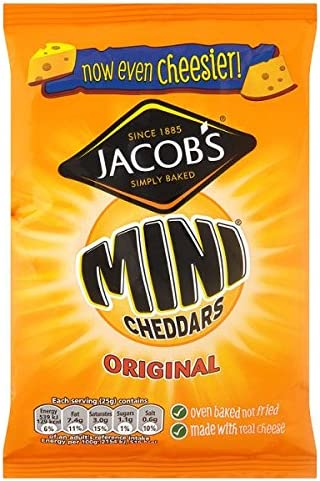 Jacob's Mini Cheddars Original 50g (Pack of 30 x 50g)