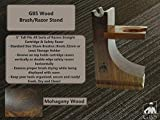 GBS Wood Brush and Razor Stand - Walnut Finish