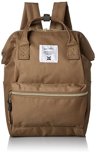 anello #AT-B0197B small backpack with side pockets (beige) by Anello
