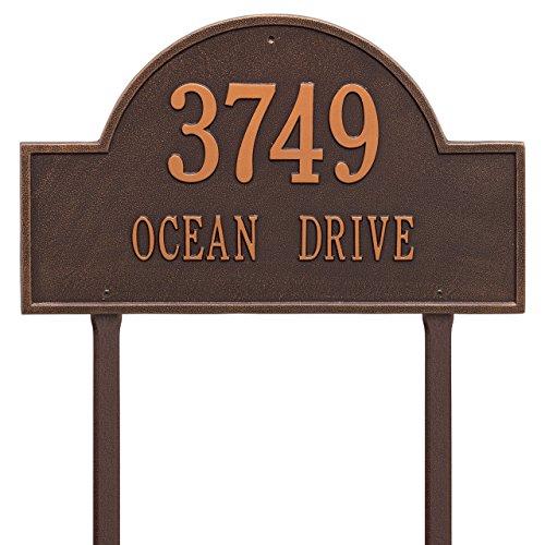 2 Line Estate Arch Marker LAWN Address Plaque 24