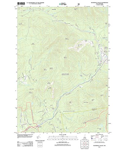 Reproductions Historical Map (Historic Map   Waterville Valley, New Hampshire (NH) 2012   USGS Historical Topographic Map   Vintage Chart Wall Art Poster Decor Reproduction   18in x 24in)
