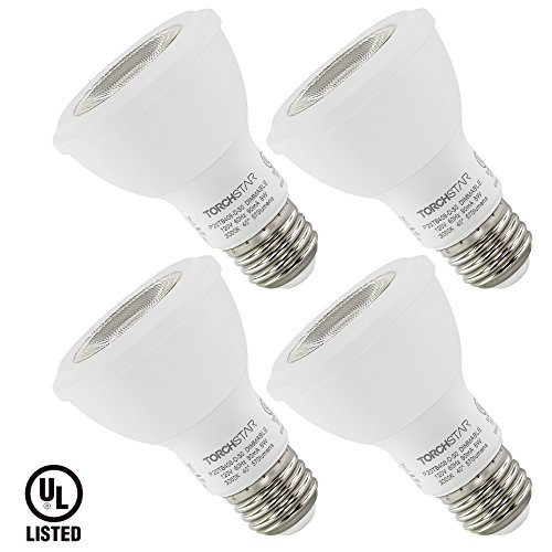 TORCHSTAR Dimmable PAR20 LED Light Bulb, 8W (50W Equivalent), 3000K Warm White, 550Lm, E26 Medium Base, Damp Location Available, 3 YEARS WARRANY, Pack of 4 ()