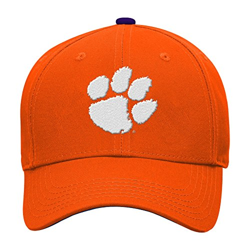 NCAA Clemson Tigers Kids & Youth Boys Basic Structured Adjustable Hat, Orange, Kids One Size (Basic Tiger)