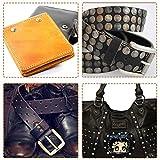 Selizo 480 Sets 4 Colors 3 Sizes Leather Rivets