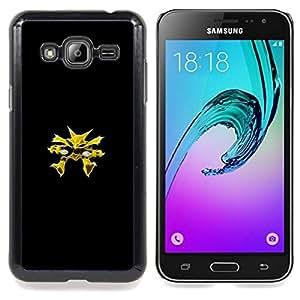 "Qstar Arte & diseño plástico duro Fundas Cover Cubre Hard Case Cover para Samsung Galaxy J3(2016) J320F J320P J320M J320Y (Alakazam P0kemon"")"