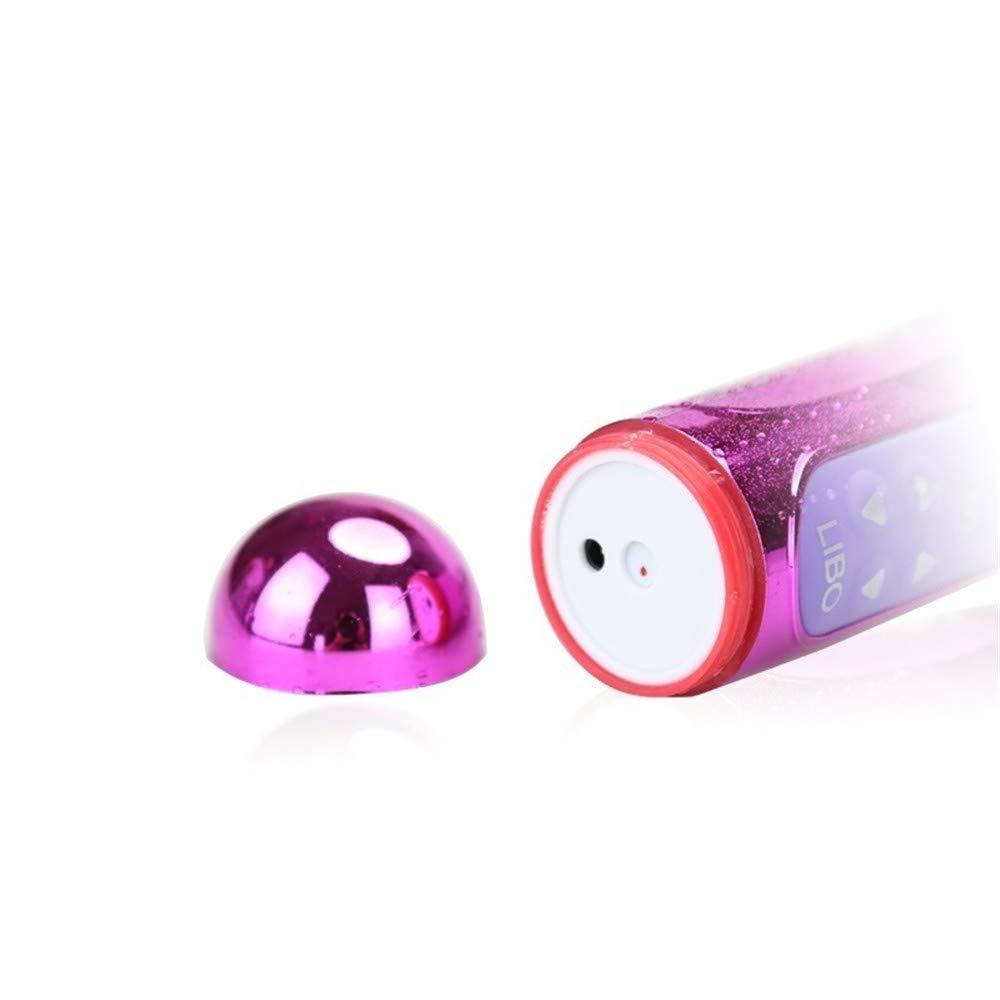 JASNO Juguetes sexuales para Mujer telescópico Giratorio consolador vibración Doble AV Motor vibración trigeminal Cuentas Varilla USB Recargable AV Doble Varita mágica 1d67d4
