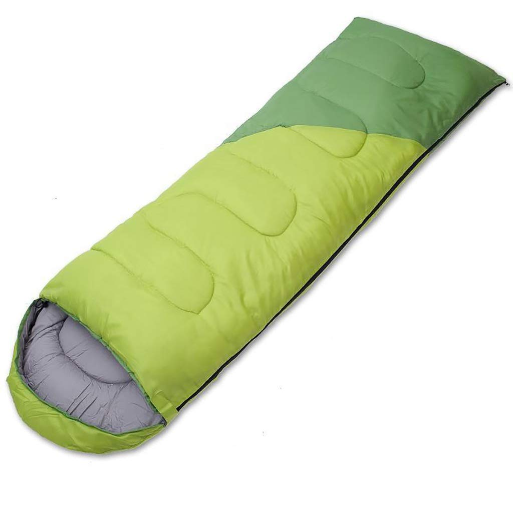 vert 1.4KG XX Sac de Couchage Enveloppe légère, imperméable for Les Adultes, for Le Camping en Plein air, y Compris Le Sac de Compression Gratuit en Coton Fit Autumn Spbague