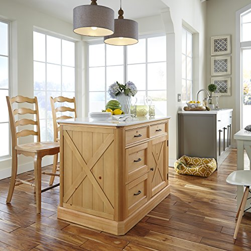 Island Kitchen Kitchen Pine (Home Styles 5524-948 Country Lodge Kitchen Island and Stools)