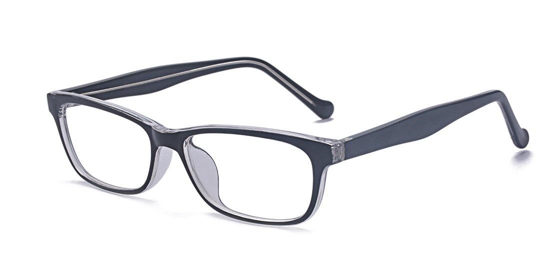 Kelens Retro Fashion Horned Rim Rectangular Frame Clear Lens Prescription Eye Glasses