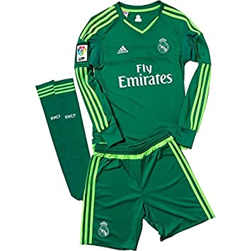 df5f01453 ADIDAS REAL MADRID FC GOALKEEPER KIT BOYS INFANT JUNIOR KIDS SHIRT + SHORTS  + SOCKS 18-24 M0NTHS 92cm AUTHENTIC FOOTBALL CLUB GIFT  Amazon.co.uk  Baby