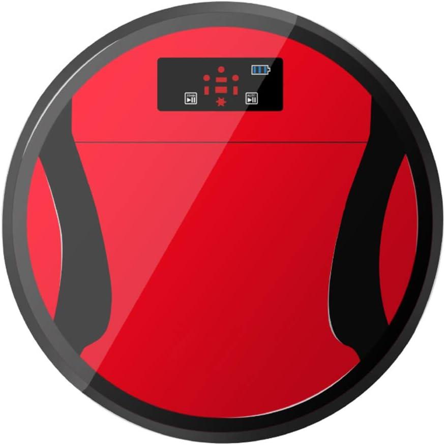 LUCKING Aspiradora Robot y fregona con Smart Recarga Adecuada para Pelo de Mascotas, alfombras y Todo Tipo de Suelos, Inteligente Anti-caída y fácil de Limpiar, de succión Fuerte y bajo Ruido