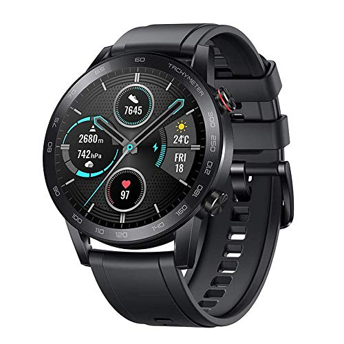 HONOR Magic Watch 2 ,46 mm Smart Sport Watch, Fitness Tracker Activity Tracker with Blood Oxygen Heart Rate and Stress Monitor, 14 Days Standby Smartwatch with GPS & Bluetooth Calling, Black