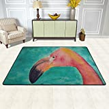 Pink Flamingo Area Rug Home Decorator Floor Carpets Door Mat Entrance Rug Bedroom Rug Outside Doors Entry Carpet 4' x 6'