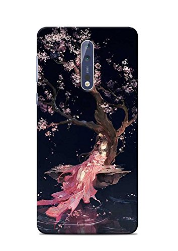 new styles 0c1f6 961d7 Print Station NOKIA5-5725 Girl in Pink Printed Back: Amazon.in ...