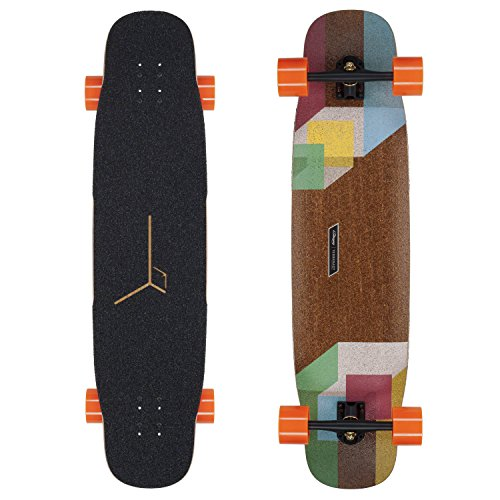 Loaded Boards Tesseract Bamboo Longboard Skateboard Complete (V1, 80a In Heat wheels)