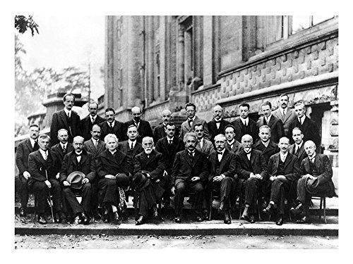 1927 Art (1927 Solvay Conference on Quantum Mechanics Art Print, 16 x 12 inches)