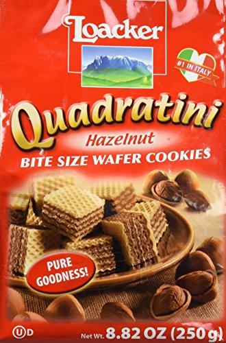 Loacker Quadratini Bite Size Wafer Cookies Hazelnut - 8.82 oz
