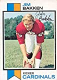 Jim Bakken autographed football card (St Louis Cardinals) 1973 Topps #97 black pen - NFL Autographed Football Cards