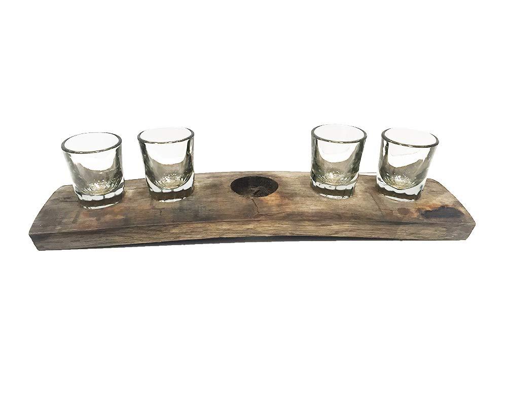 Bourbon Barrel Stave Flight Board