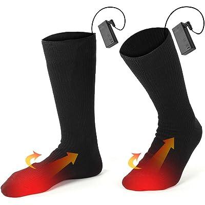 Calcetines Térmicos Calcetines Calientes Climatizada para Hombre y Mujer Pie Calor control Térmica Ideal para practicar senderismo, caza, pesca en el hielo y actividades bajo techo en clima frío