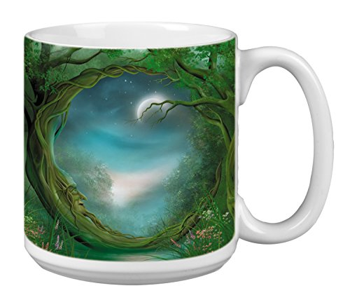 Tree-Free Greetings Extra Large 20-Ounce Ceramic Coffee Mug, Day/Night Themed Fantasy Art (XM29495)
