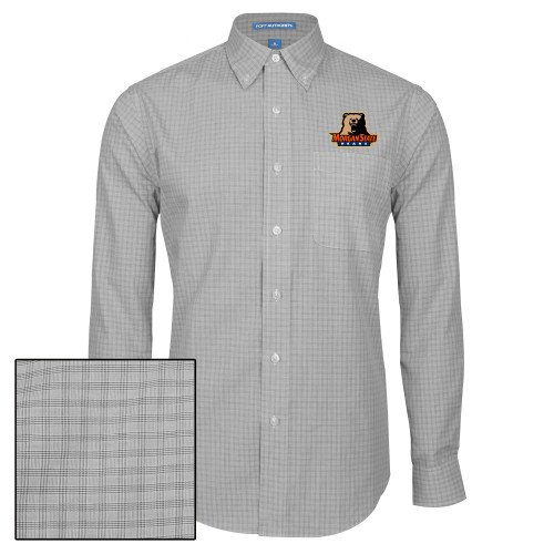 CollegeFanGear Morgan State Mens Charcoal Plaid Pattern Long Sleeve Shirt Morgan State Bears w//Bear